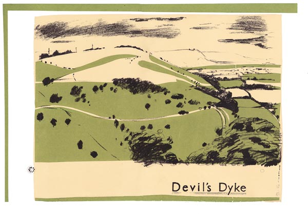 Sue Haseltine Devil's Dyke Screenprint